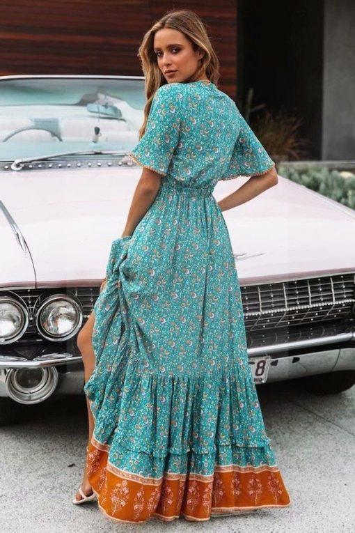 Indisches Hippie Maxi Kleid
